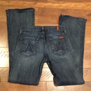 7 for all mankind great condition boot cut jeans